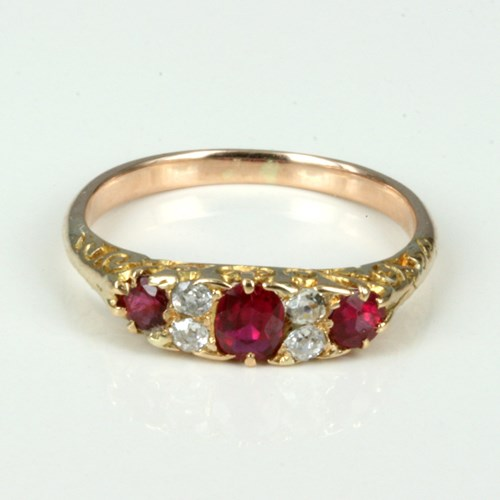 Victorian Ruby and Diamond Engagement