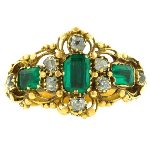 1830s Georgian Emerald and Diamond Ring