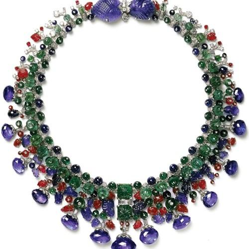 Daisy Fellowes's Tutti Frutti Collier Hindou Necklace