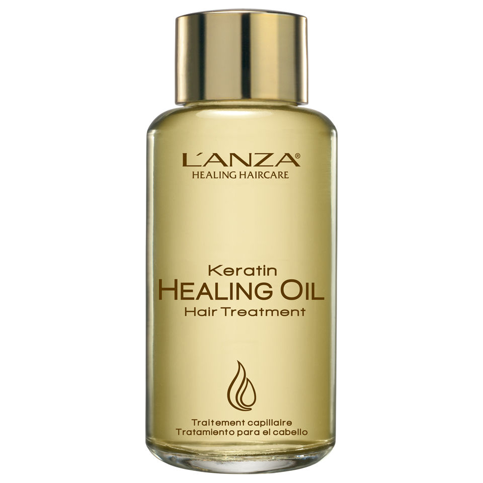 L'ANZA Keratin Healing Oil Hair Treatment, 3.4 oz, $23