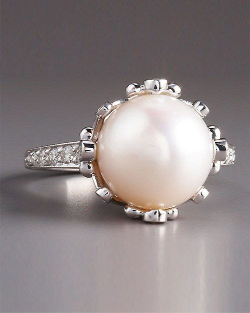 Penny Preville Pearl Diamond Ring