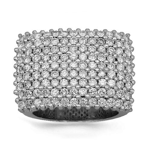 Solid White Gold Men's Diamond Ring