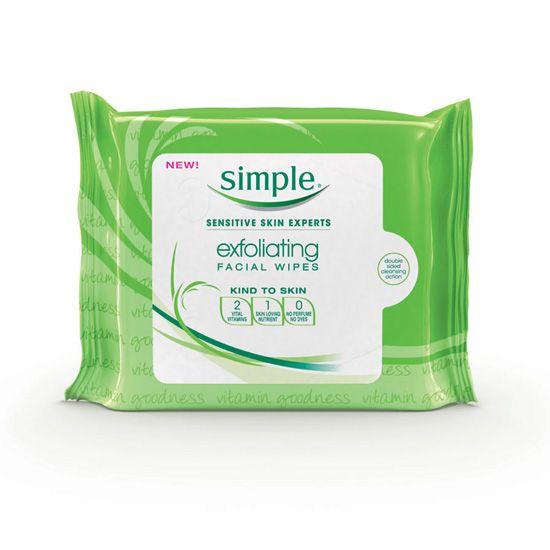 Exfoliating wipes, $4