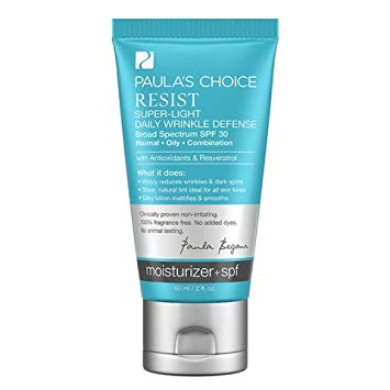 Paula's Choice Resist Super-Light Daily Wrinkle Defense SPF 30 Tinted Matte Moisturizer, $33.00