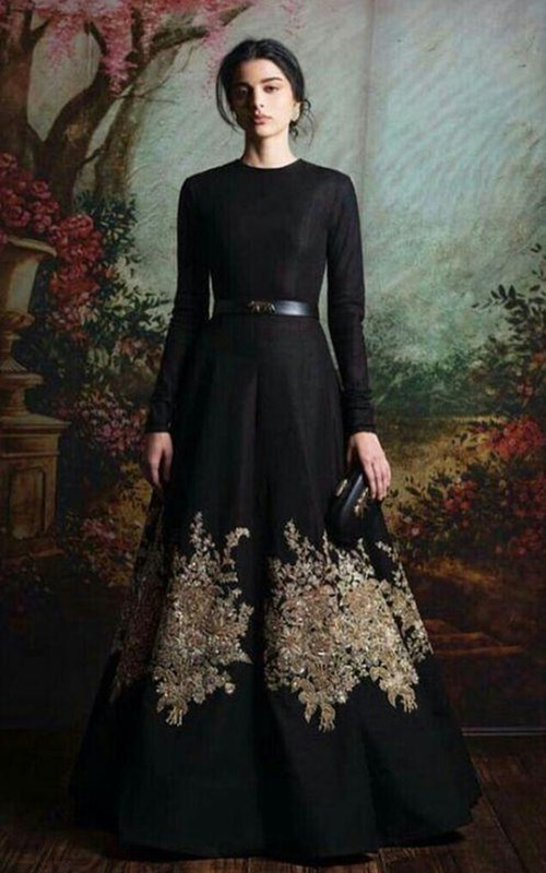 Black Floor Length Gown by Sabyasachi