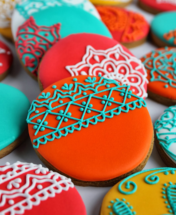 Cookies With Mehendi Designs