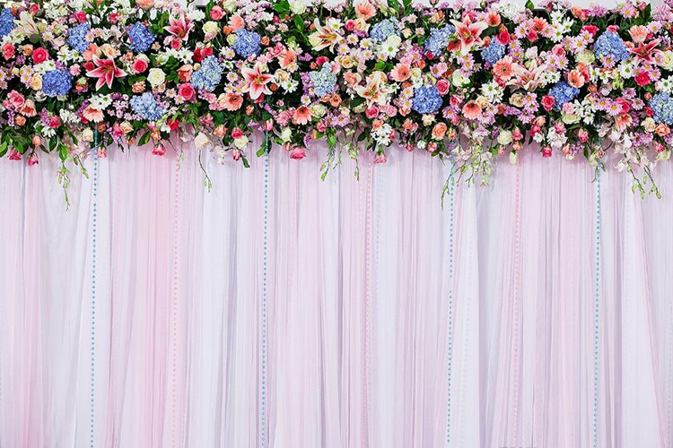 2.	Flower Backdrop:
