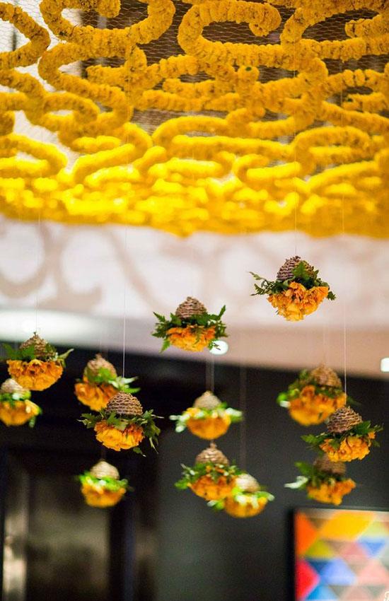 6.Hanging Marigold for Mehendi
