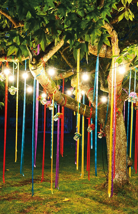17.Colorful Ribbons: A Must-Have for Mehendi and Baraat Decor