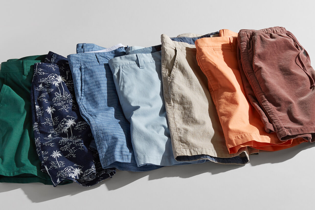 6.Two Pairs of shorts
