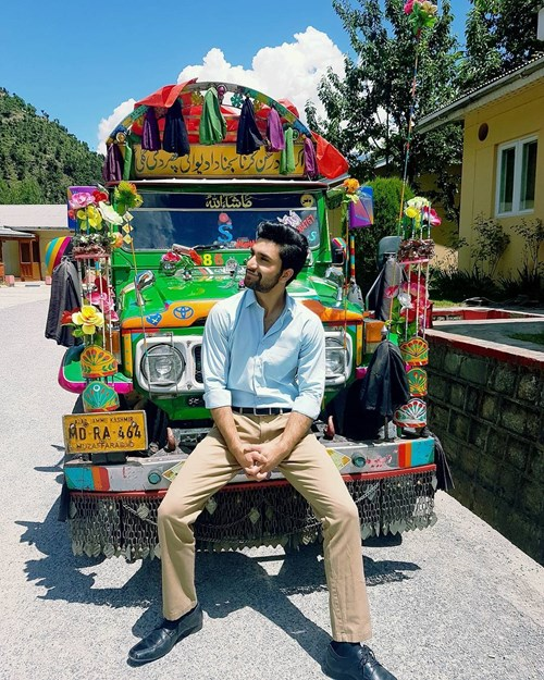 Dr. Asfandyar and his beautiful truck that we dream of sitting with him in!