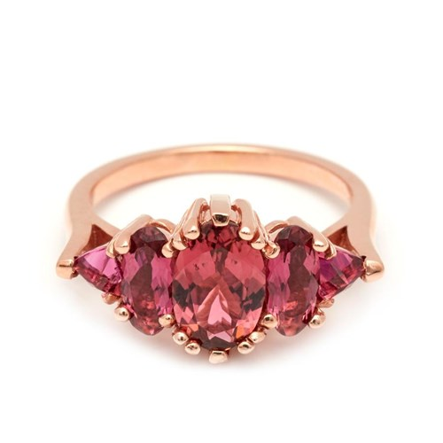 Theda Ring – Rose Gold and Pink Tourmaline
