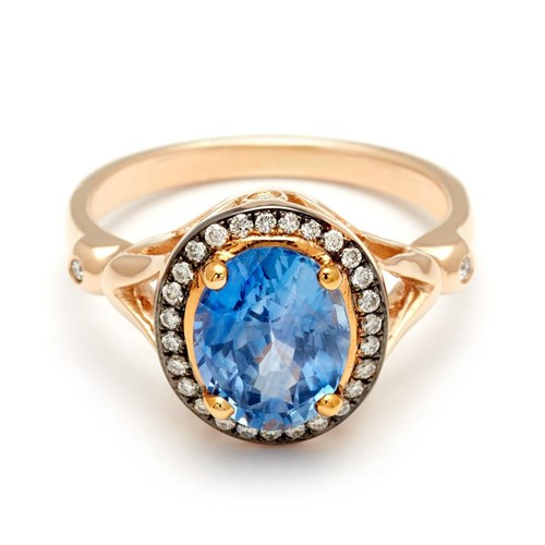 Luna Ring – Yellow Gold and Blue Sapphire