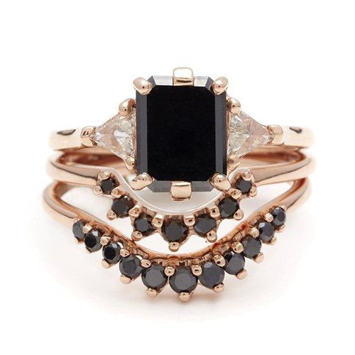 Bea Suite No. 6 Black Diamond Ring
