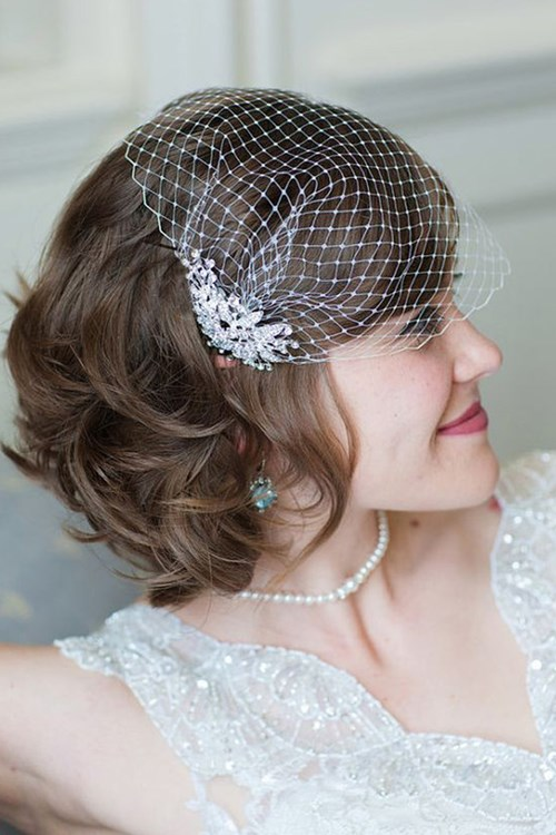 French Netting Bandeau Veil