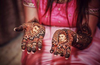 Portrait Henna Designs To Show Your Love To The Groom!