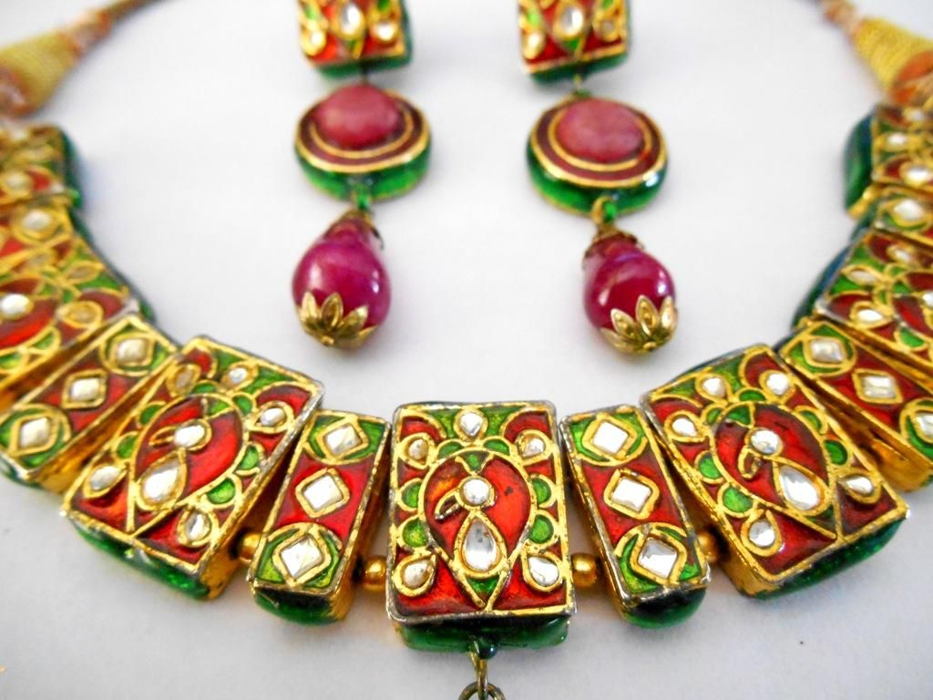 The Righteous Rule of Meenakari Necklace