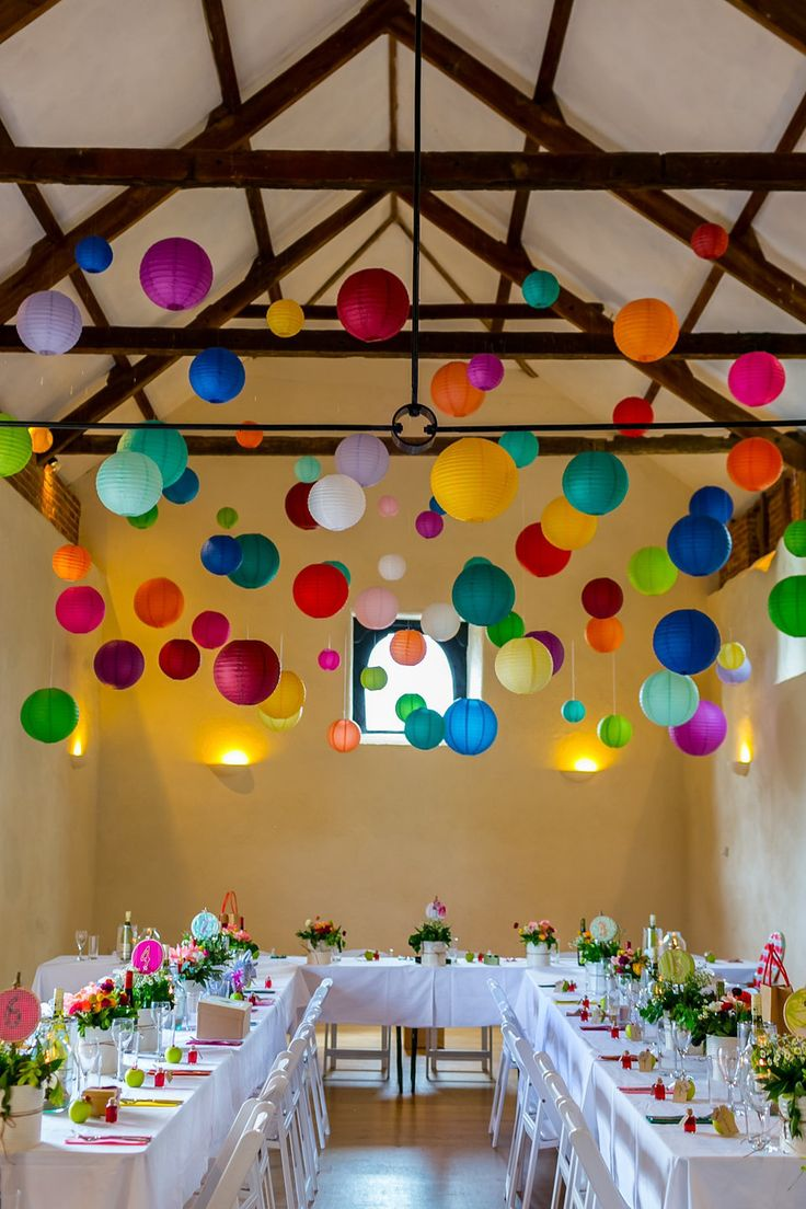 4.Chinese Lantern Ceiling Décor: