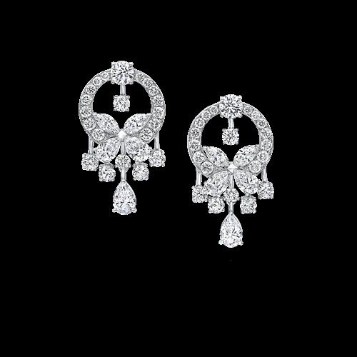Classic Butterfly Diamond Small Earrings