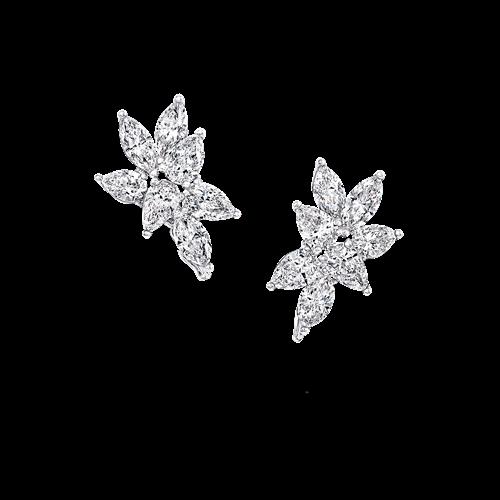 Multi-Shape Diamond Stud Earrings
