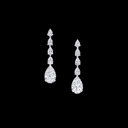 Oval Cut Diamond Earrings