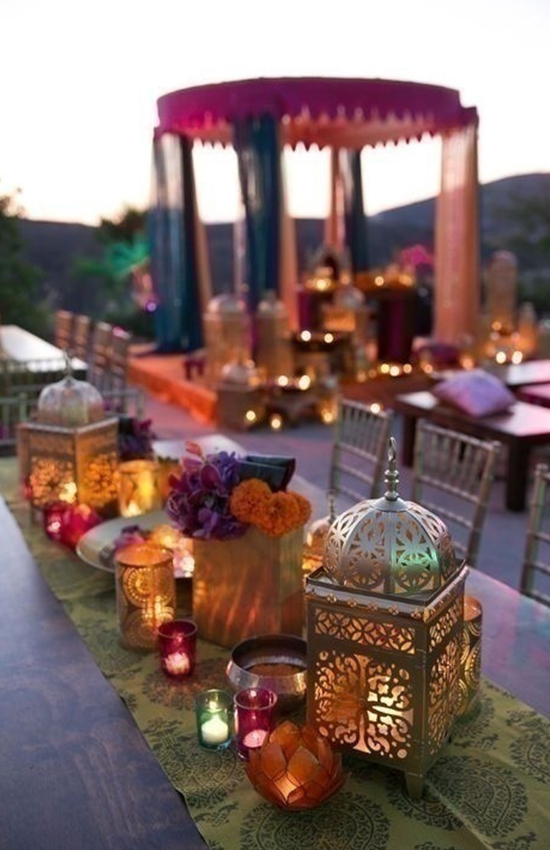 2.Colorful Candle Holders