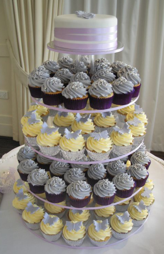 6.Cupcake Table for Bridal Shower