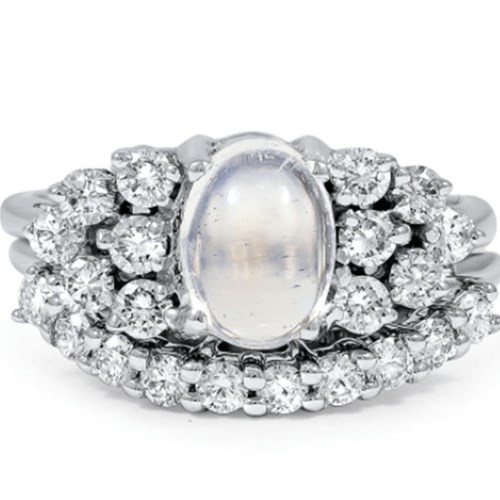 Moonstone and Diamond Set From Brilliant Earth