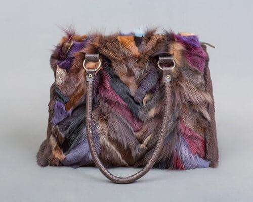Multi-color Fur Bag