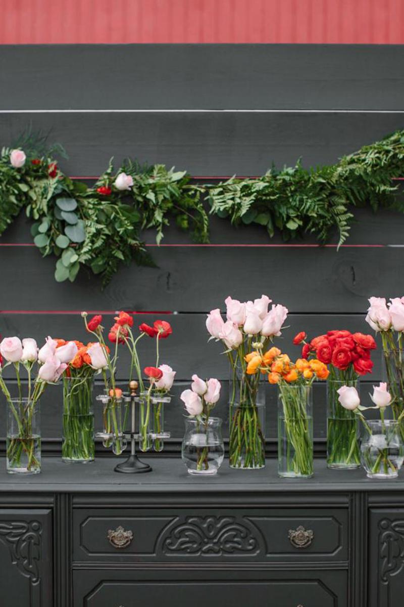 10.DIY Flower Station for Mehendi or Mayun: