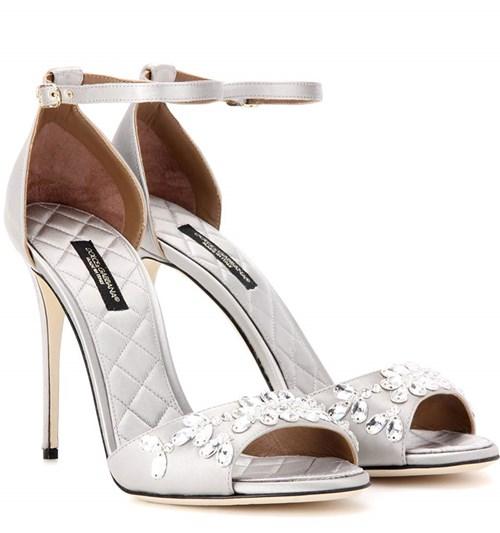 Dolce & Gabbana Keira Embellished Satin Sandals
