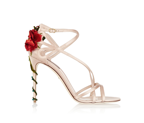 Dolce and Gabbana Rose Heel Pumps