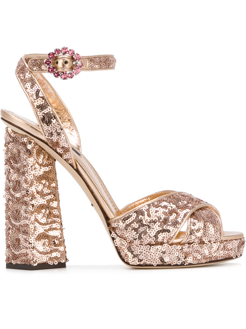 Dolce & Gabbana Sequin Sandals