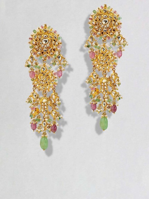 Gold plated Maggar Style earrings