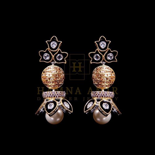 Kundan Minakari Pearl Earrings
