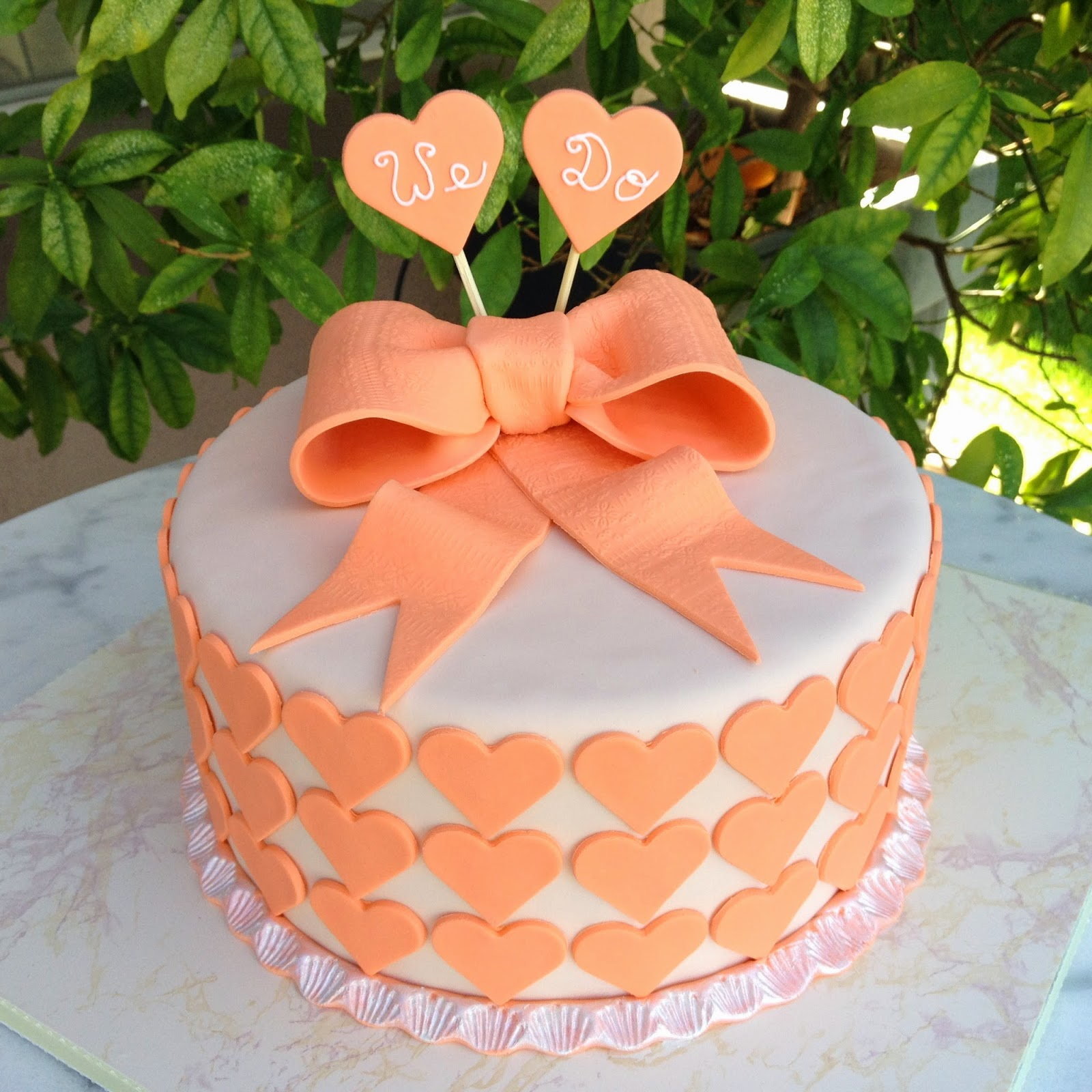 6.Simple Engagement Party  Cake