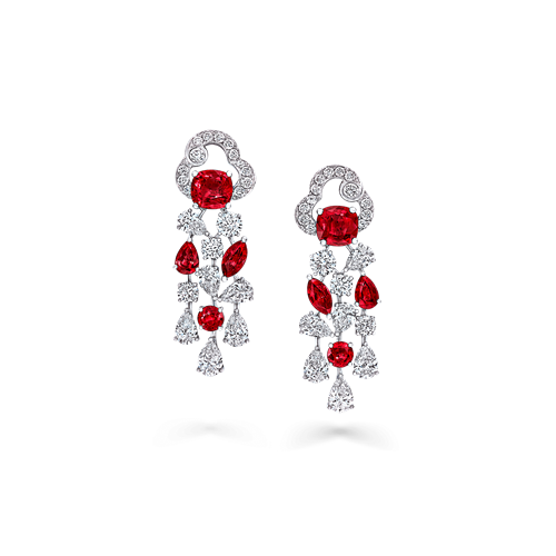 Ruby and Diamond Nuage Collection Earrings