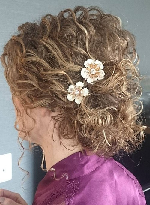 Messy Curls Up-do