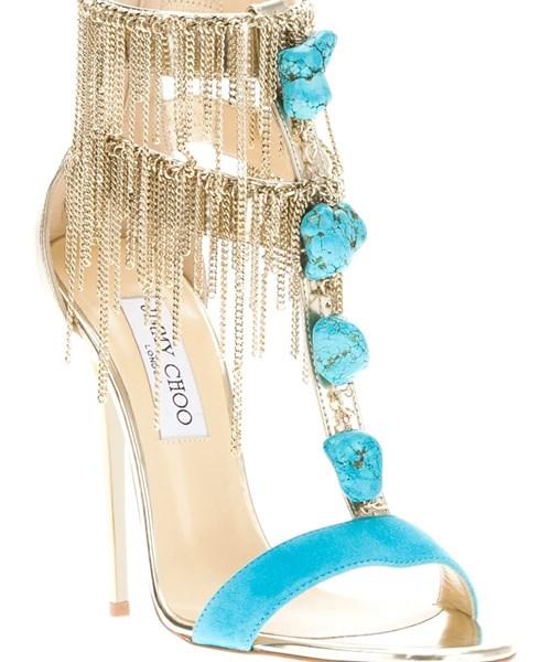 Jimmy Choo Belle Sandal in Blue