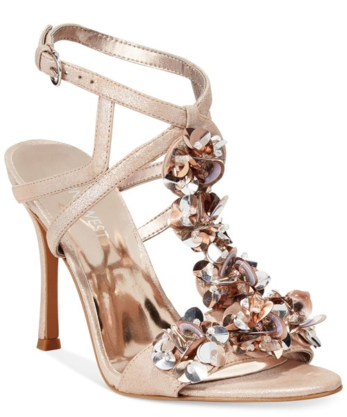Nine West Fabour Jeweled Evening Sandal
