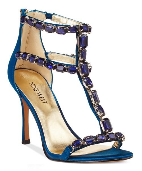 Nine West Jeweled Evening Sandals