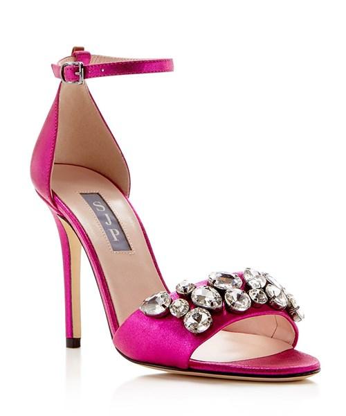 Pandemonium Jeweled Ankle Strap High Heel