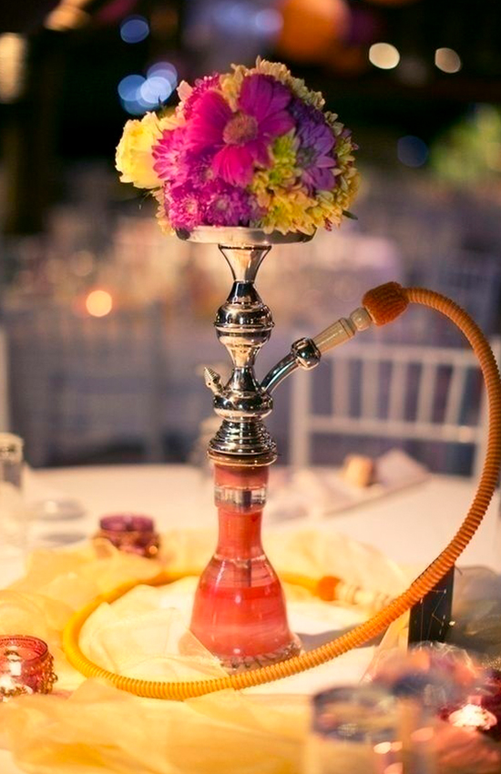 14.Hookas Decorated with Flowers