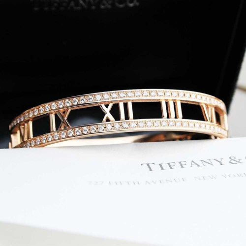 Rose Gold Atlas Diamond Bangle Bracelet by Tiffany and Co.
