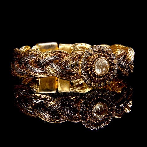 Zircon Twisted Bracelet by Hamna Amir