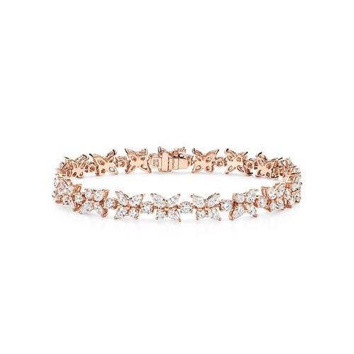 Rose Gold Mixed Cluster Bracelet by Tiffany and Co.