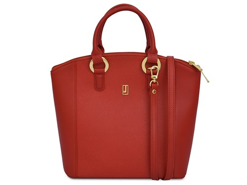 Red Gold Combination Leather Handbag – Jafferjees