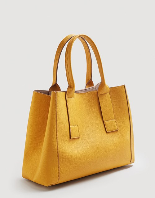 Pebbled Shopper Bag – MANGO