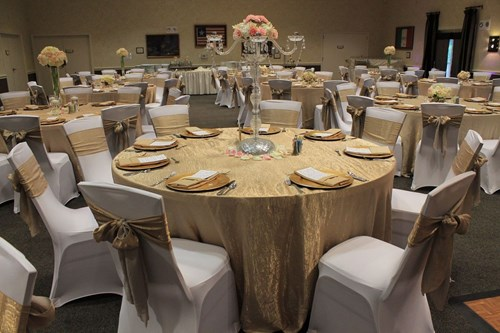 1.	What types of linen, chairs, chair covers, and tables are included?
