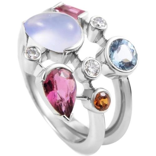 Cartier Meli Melo Platinum Multi-Gemstone Ring
